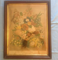 Vintage 1870 James Vick Flower Seed Poster Print with Frame   eBay