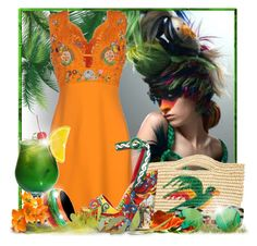 """Pretty Bird"" by doozer ❤ liked on Polyvore featuring Emilio Pucci, Sensi Studio, Dolce&Gabbana, BKE and Illesteva"