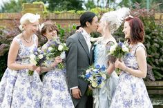 Love The Toile Linen Blue Dresses Wedding Palette See More