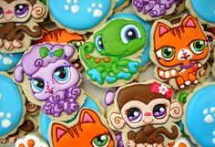 Littlest pet shop cookies.