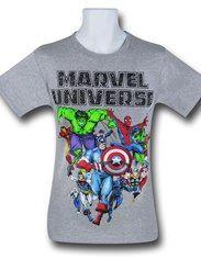 Marvel Universe Group on Grey T-Shirt