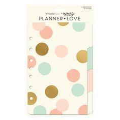Planner Love Tab Dividers - Coral