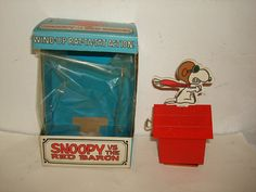 Vintage CHEIN SNOOPY The Red Baron WindUp by PastPossessionsOnly, $39.95