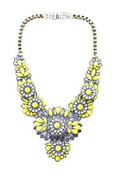 Roxie Flower Collage Necklace