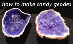 Bake Edible Chocolate Amethyst Crystals Rock Candy Geodes - via Michael Brown