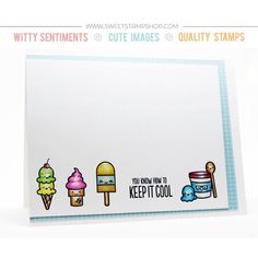 Card created by designer Chrissie Tobas using the Sweet Stamp Shop Little Cooler stamp set