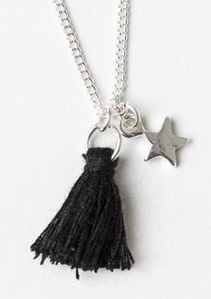 https://www.onceit.co.nz/products/697450/star-mini-tassel-necklace-black-silver