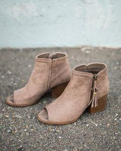 LOVE these peep toe booties!!!