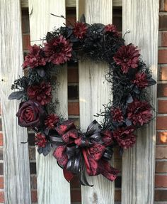 Halloween Wreath / Fall Wreath / Goth Wreath by ToadHouseCreations