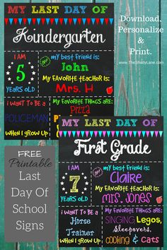 In the past few months I've received a few requests to make a Last Day of School Printable Chalkboard Sign to match my First Day of School Printables. With the end of the year rapidly approac…