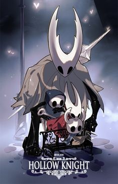 Hollow Knight is a adventure/ Metroidvania game for PC, Mac, Linux, Nintendo Switch, PlayStation 4 and Xbox One! Dark Souls, Video Game Art, Video Games, Dibujos Dark, Team Cherry, Hollow Art, Hollow Night, Knight Art, Cartoon Games