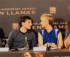 """this is funny :-P it looks like there about to kiss in then josh is like """"nope gonna whisper something in your ear"""""""