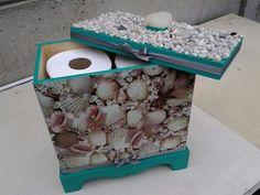 Decoupage toiletroll holder