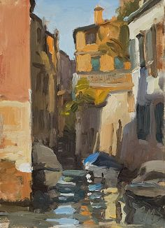 daily painting titled Rio dei Tolentini - click for enlargement