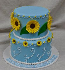 Frozen fever cake (jennywenny) Tags: birthday blue cake frozen sunflower fever