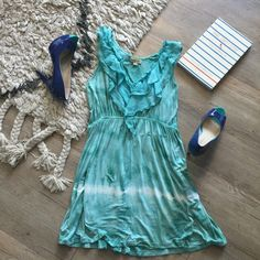 Meworld teal dress This dress has a lighter material- great spring or summer dress! Very comfortable- lightly worn & in great condition! Meworld Dresses