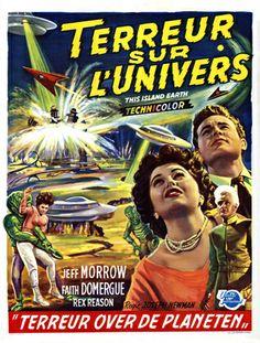 THIS ISLAND EARTH - Jeff Morrow - Faith Domergue - Rex Reason - Universal-International Pictures - Belgian movie poster.