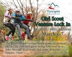 Calling all Girl Scouts! Are you ready for an adventure? For more information call 301-725-1313 or click http://www.terrapinadventures.com/book-your-adventure/ #GirlScouts