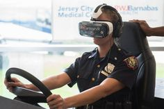 """WATCH: 'It Can Wait' distracted driving VR simulation  With the aid of virtual reality technology and their companions at AT&T, Jersey City Clinic this week sent a significant message to the neighborhood.!    It can wait. !   Jersey City Clinic and AT&T teamed up for a community training event on AT&T's national """" It Can Wait """" tour, utilizing virtual reality to give attention to the risks of smartphone diversions while driving.    Visitants to the cafeteria of a healthcare facilit.."""
