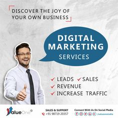 Increase Traffic, Leads, Sales and Revenue with our Digital Marketing #valueoneindia #bulksms #bulksmsservices #socialmediamarketing Digital Marketing Services, Social Media Marketing, Build Your Brand, Promote Your Business, Growing Up, Budgeting, Promotion, How To Get