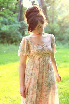 Vintage 70s maxi dress.