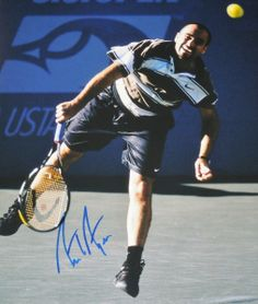 b9eac78fd23913 AAA Sports Memorabilia LLC - Andre Agassi Autographed Tennis 11x14 Photo  (3)