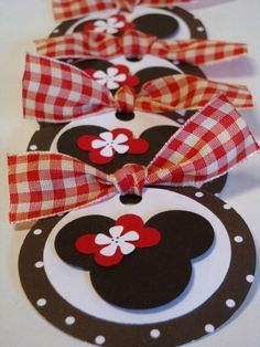 Minnie Mouse gift tags by Rosbi