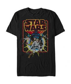 Star Wars Old School Comic T Shirt. Officially licensed graphic tee.