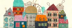 houses #houses #art #pattern #colorful #whimsical
