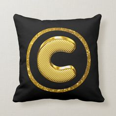 Gold Bling Glitter Cushions with your Initial on the front and Zebra Print Back! Accent Pillows, Throw Pillows, Zebra Print, Lumbar Pillow, Cushions, Bling, Glitter, Cozy, Wallpaper
