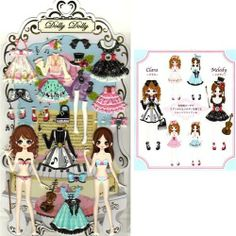 Q-Lia Dolly Dolly Colorforms Stickers with Jewels: Clara & Melody