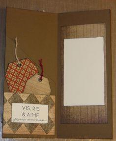 carte masculine à pochette Burlap, Creations, Reusable Tote Bags, Frame, Masculine Cards, Handkerchief Dress, Hessian Fabric, A Frame, Frames