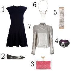 Fab Alexander McQueen #lbd in this entry for the Lucky #7 #fashion #contest