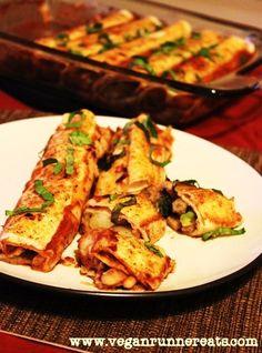 Veggie-Loaded Enchiladas - a Plant-Based Dinner to Warm Your Soul | www.veganrunnereats.com