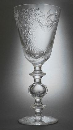 Finely engraved crystal goblet -- Steven Piper, Stourbridge 2003