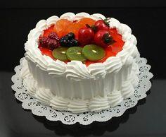Fake Food Vanilla Fruit Top Cake
