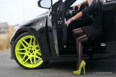 pose with car