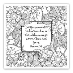 Beauty In the Bible Adult Coloring Book Beautiful Free Christian Coloring Pages for Adults Roundup Joditt Designs Bible Verse Coloring Page, Coloring Book Pages, Coloring Pages For Kids, Coloring Sheets, Free Printable Coloring Pages, Bible Verses, Romans Bible, Scriptures, Bridesmaid Dresses