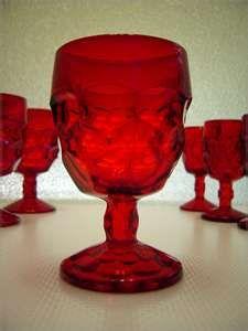 Ruby glass goblets