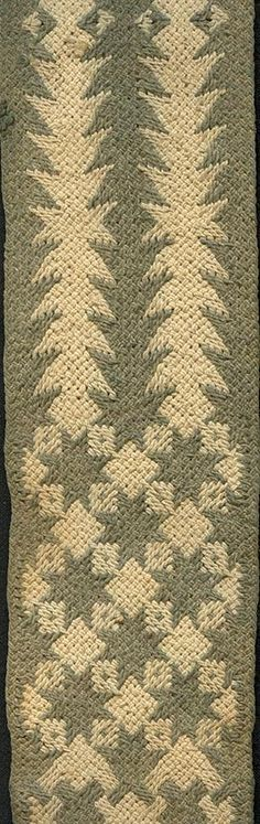 Detail from a traditional ply-split cotton camel girth | Linda Hendrickson