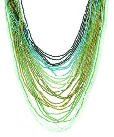 Another great find on #zulily! Green Ombré Bead Necklace #zulilyfinds