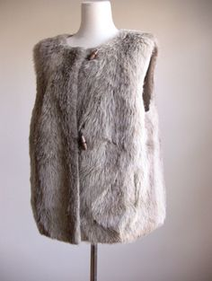 fake fur vest with toggles