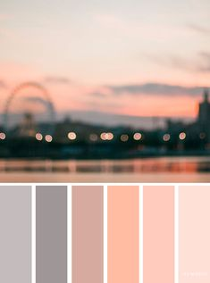 Grey and peach color scheme Sunset color inspiration Find wedding color inspiration for every season winter hues summer wedding color scheme autumn wedding color palette wedding color schemes inspired by landscape