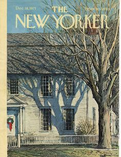 New Yorker Magazine Cover December 18, 1971, Gertz, artist