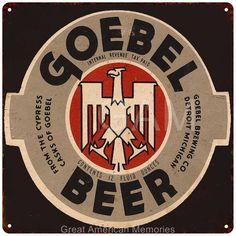 Goebel Beer Vintage Look Reproduction Metal Sign 12x12 2120049   Chico Creek Signs