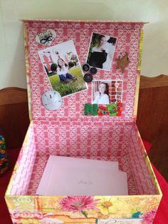high school graduation party ideas | Box for graduation party cards