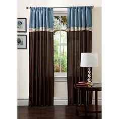 Lush Decor Terra Window Curtain  One Pair >>> Click on the image for additional details.