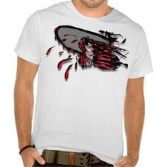 #Bloody Chain Saw Through the Head #Halloween Tshirt