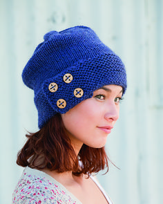 Button-Up Slouchy Hat pattern by Amanda Lilley