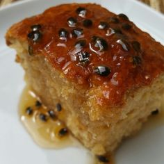 Coconut & Rum cake with a passionfruit sugar syrup glaze